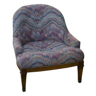 Baker Furniture Regency Tufted Low Chair