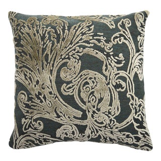 Italian Damask Forest Green Pillow