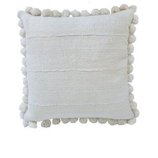 African Mud Cloth Pompom Pillow