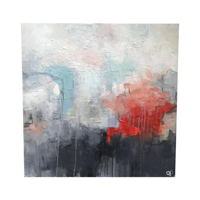 Image of Jordan Johnson Aqua & Coral Abstract I Painting