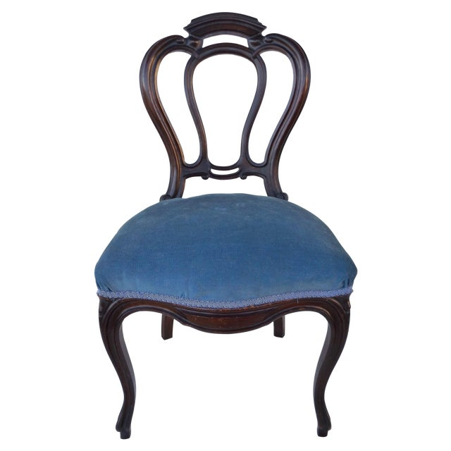Victorian Ladies Parlor Accent Chair - Image 1 of 8
