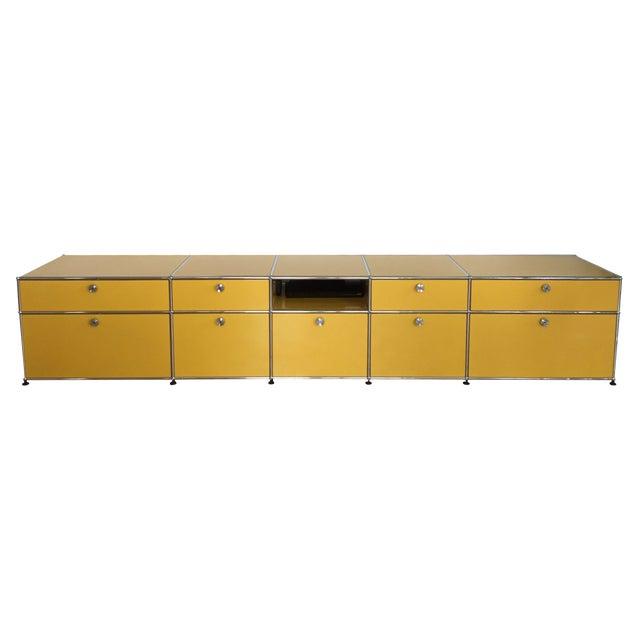 Golden Yellow USM Haller Credenza - Image 1 of 6