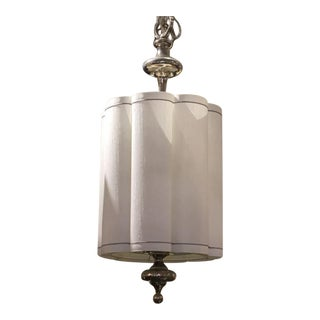 Fluted Faux Silk Pendant Light