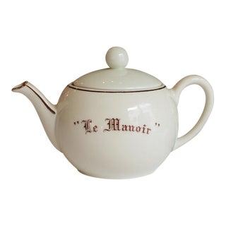 """Vintage French """"Le Manoir"""" Porcelain Teapot"""
