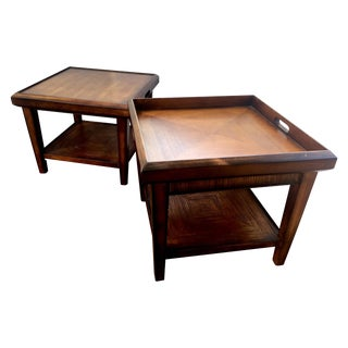 Drexel Flip Tray End Tables - A Pair