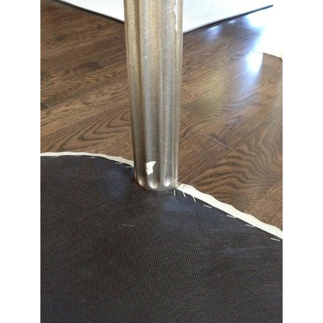 Interior Crafts Silver Leaf Upholstered Bench - Image 10 of 11