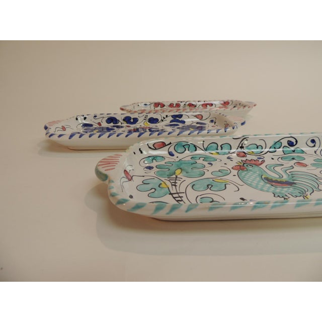Hand Painted Ceramic Serving Dishes Set of (3) - Image 5 of 6