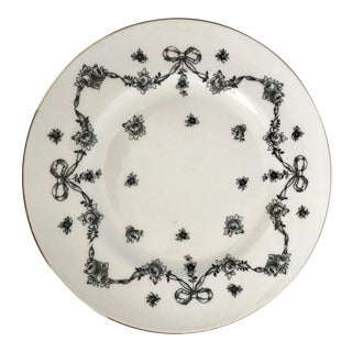 Antique Royal Victoria Black & White Floral Plate