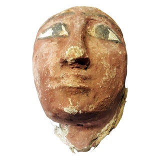 600 BC Egyptian Original Ancient Sarcophagus Mask