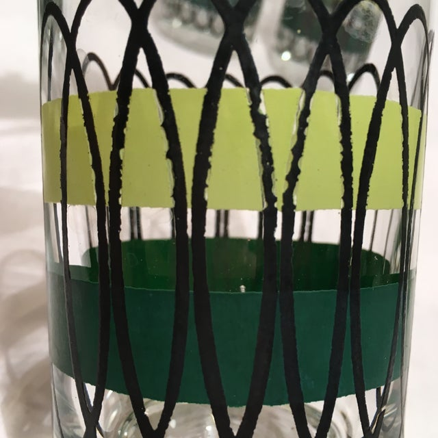 Green and Black Libbey Tumblers - S/6 - Image 3 of 6