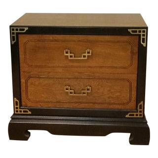 Bassett Chinoiserie Brass Accents Nightstand