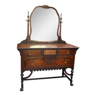 Gothic Jacobean Mahogany Dresser