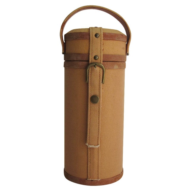 Tweed And Suede Wine Carrier - Image 1 of 8
