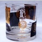 Image of Hollywood Regency 22kt Gold Black Barware Glasses