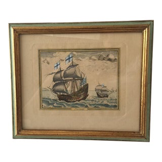 Antique Sailing Ships Engraving