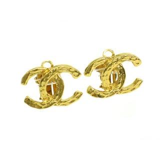 Chanel Clip-On Metal Earrings