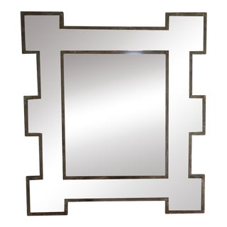 Metal Framed Mirror w/ Antiqued Glass
