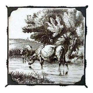 Minton 1891 Stoke Upon Trent Sepia Tile
