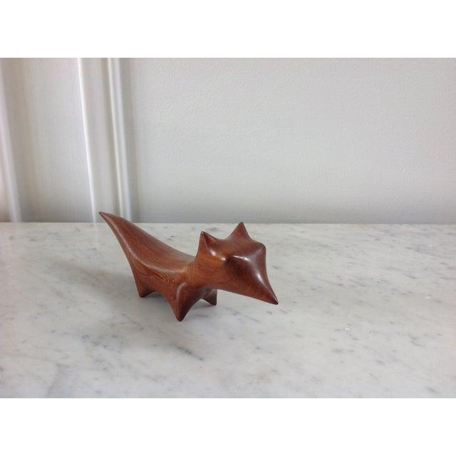 Danish Modern Wood Carved Fox - Image 4 of 5