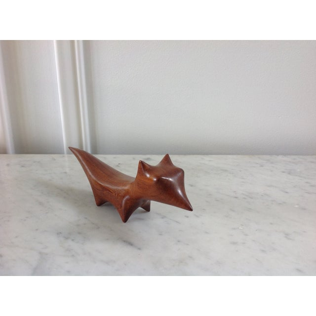 Image of Danish Modern Wood Carved Fox