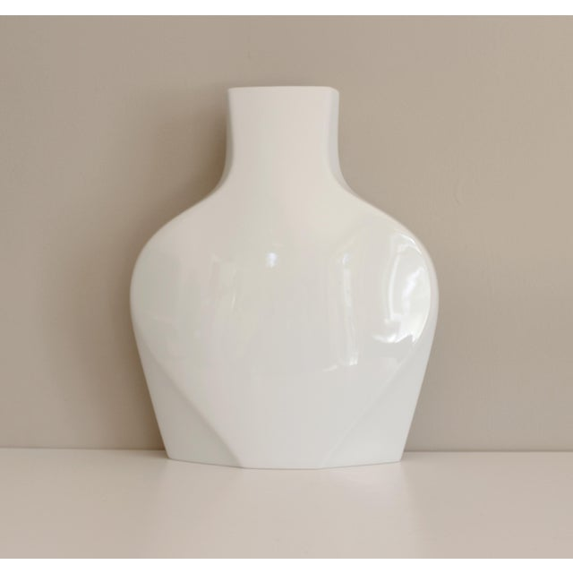 Rosenthal Studio Line White Ceramic Vase Modernist Post Modern - Image 2 of 5