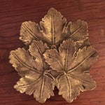 Image of Solid Brass Maple Leaf Dish