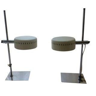 Mid-Century Robert Sonneman Pan Head Lamps - Pair