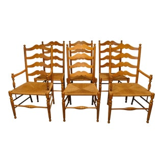 Ethan Allen Ladder Back Dining Chairs - Set of 6