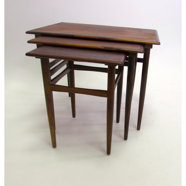 Image of Danish Mid-Century Modern Rosewood Nesting Tables