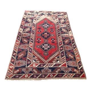 Vintage Anatolian Antalya Rug - 3′11″ × 6′6″