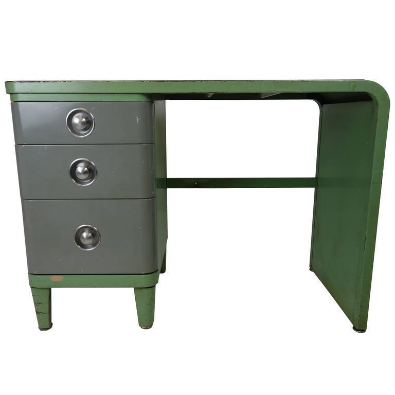 norman bel geddes simmons company furniture enameled steel desk