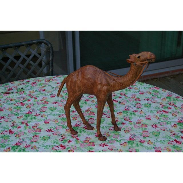 Vintage Leather Standing Camel - Image 4 of 4