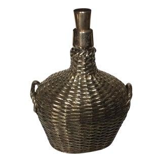 Gorham Sterling Silver Overlay Basket Jug