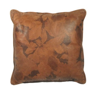 Sale!! Autumn Leaves Genuine Leather Pillow