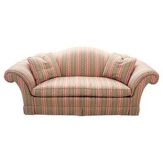 Baker Camel-Back Upholstered Sofa