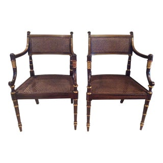 Vintage Baker Regency Accent Chairs - A Pair