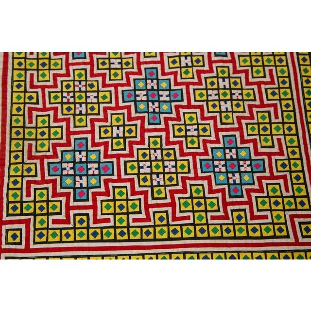 Handwoven Vietnamese Quilt - Image 8 of 8