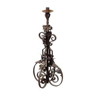 19th Century Wrought Iron Standing Lantern