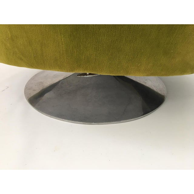 Milo Baughman Thayer Coggin Plush Mod Swivel Lounge Chair - Image 6 of 7