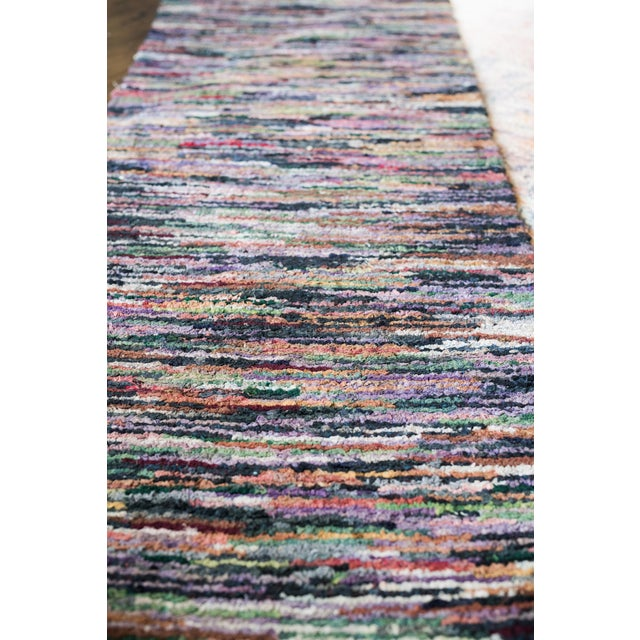 Swedish Vintage Handwoven Rug - 2′4″ × 10′2″ - Image 3 of 5