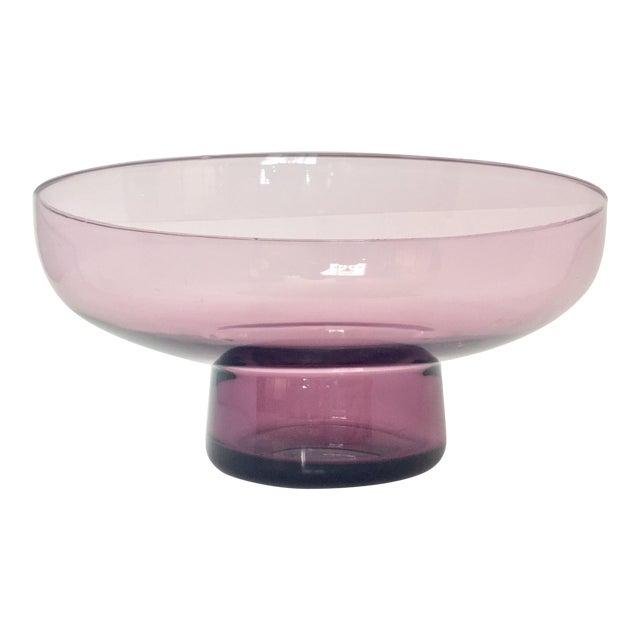 Vintage Lavender Scandinavian Art Glass Bowl - Image 1 of 7