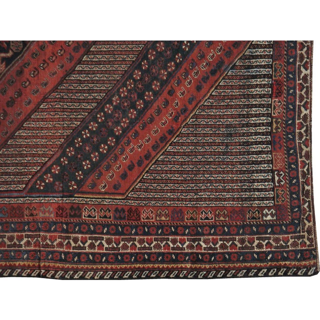 "Image of Antique Persian Distressed Rug - 5'4"" X 10'1"""