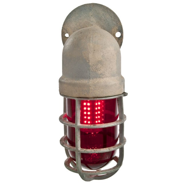 Crouse Hinds Explosion Proof Factory Sconce Red Chairish