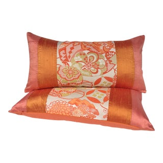 Japanese Obi Pillows - a Pair