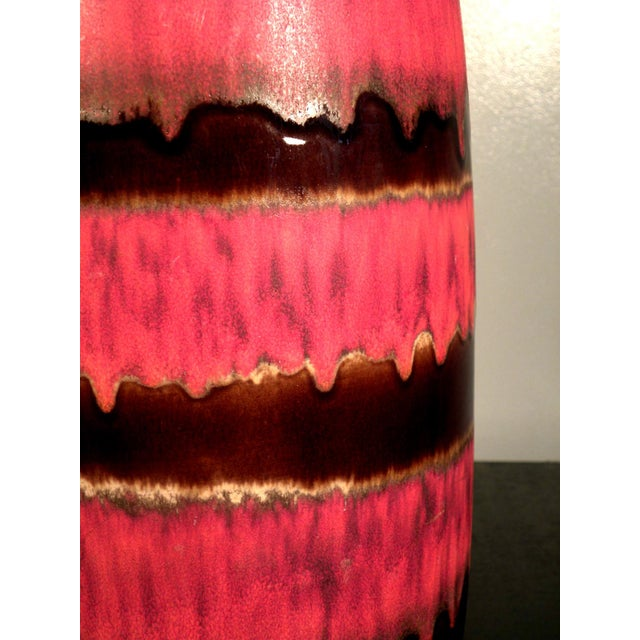 Image of Red and Brown West German Scheurich Tall Vase