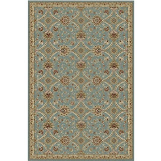 Oriental All Over Pattern Blue Rug -- 5' x 7'