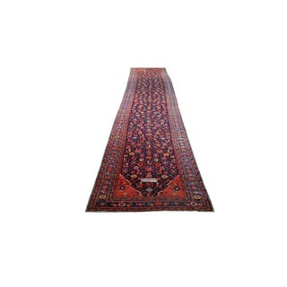 Antique 19 Ft. Signed Persian Caucasian Handmade Knotted Rug - 3′6″ X 19