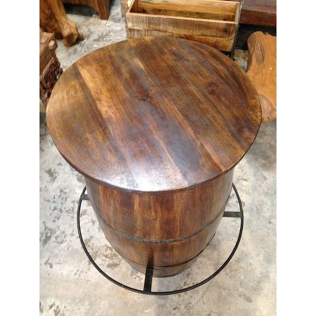 Antique Barrel Bar Table - Image 3 of 4