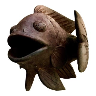 Antique Terracotta Fish Planter
