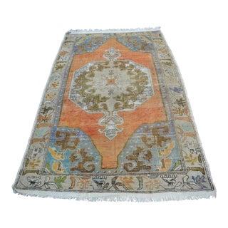 Antique Anatolian Turkish Faded Rug - 4′3″ × 7′2″